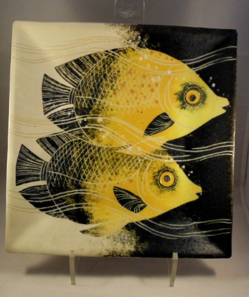 Frank Hamer Ceramic Painting - Masked Butterfly Fish